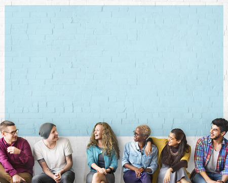 Photo pour Friends Talking Communication Discussion Unity Concept - image libre de droit