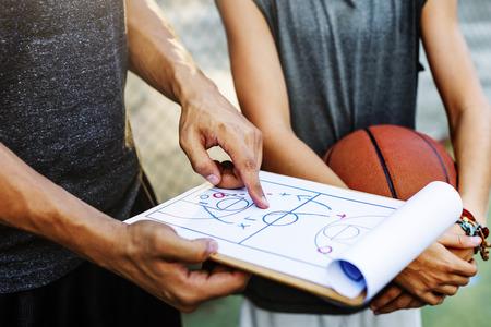 Basketball Player Sport Game Plan Tactics Concept
