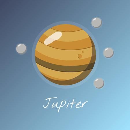 Planet Jupiter concept