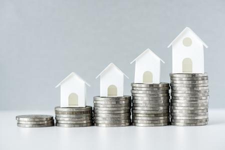 Photo pour Macro shot of increase in mortgage rate concept - image libre de droit