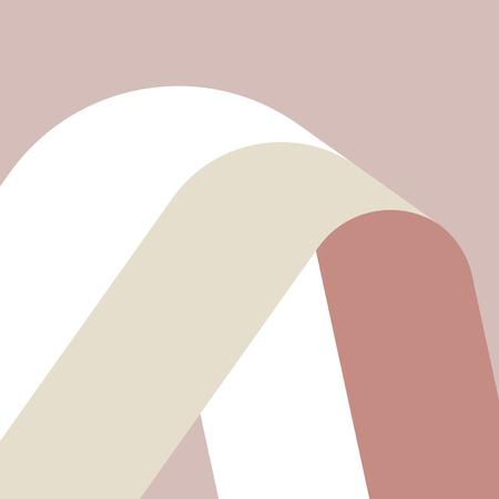 Illustration pour Nature tones Swiss graphic design pattern - image libre de droit