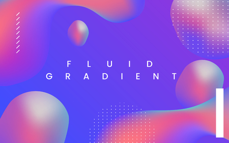 Colorful fluid gradient background vector