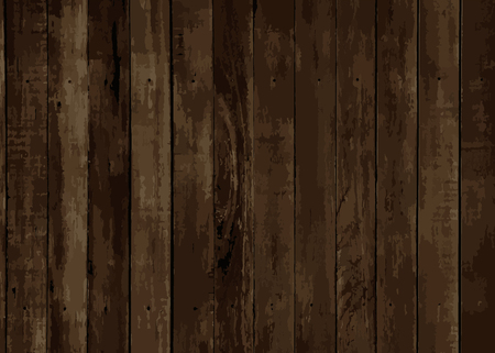 Illustration for Brown wooden textured background vector - Royalty Free Image