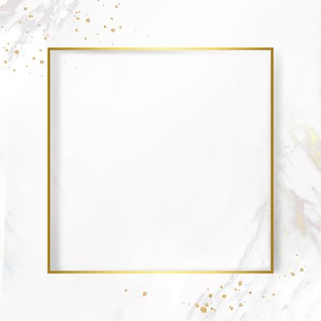 Photo pour Golden square frame on a marble textured background - image libre de droit