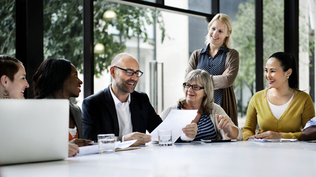 Photo for Business people discussing in a meeting - Royalty Free Image