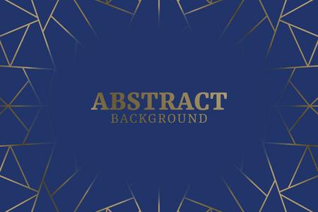 Illustration pour Blue abstract geometric background vector - image libre de droit