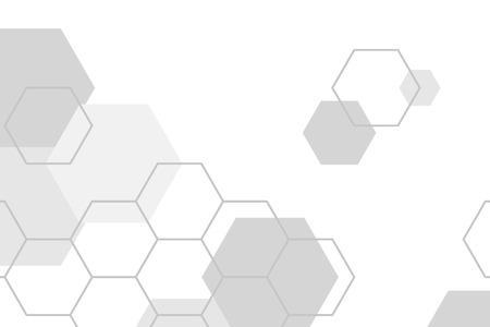 Illustration pour Gray hexagon geometric pattern background vector - image libre de droit