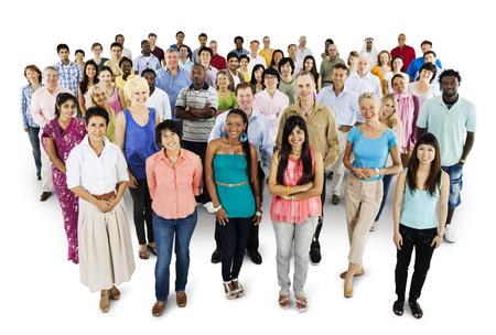 Photo pour Group of diverse people mockup - image libre de droit