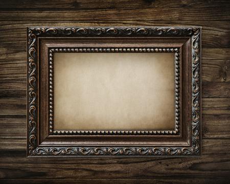 Photo pour Vintage premium frame mockup design - image libre de droit