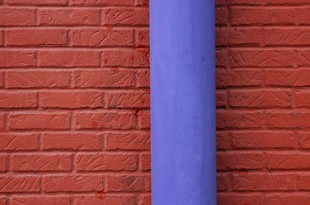 Brick Wall And Drain Pipe