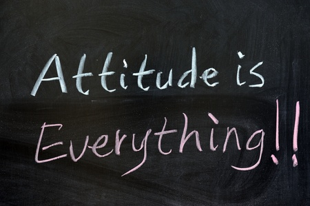Chalk drawing - Attitude is everything