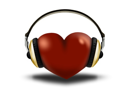 headphones and heart