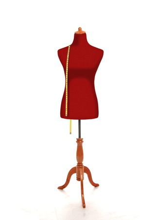 Female torso mannequin with measurement tape