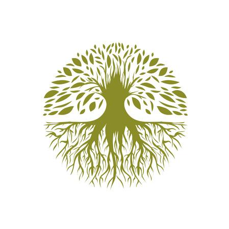 Illustration of Abstract Round Tree
