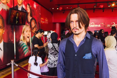 Los Angeles, CA, USA - may 2013: Wax statue of Johnny Depp, Hollywood celebrity and actor, at Madame Tussauds museum in Hollywood