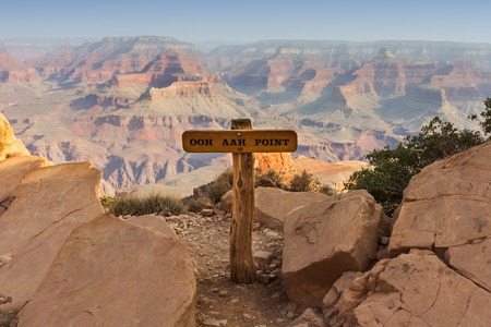 Capture of Ooh Aah Point on the Grand Canyon South Kaibab Trail with background rock formations