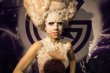 Los Angeles, CA, USA - 6th July 2013: Madame Tussauds Hollywood figures - Lady Gaga