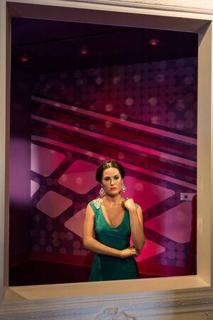 Los Angeles, CA, USA - July 6, 2013: Madame Tussaud's Hollywood figures - Salma Hayek.