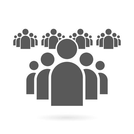 Ilustración de Illustration of Flat Group of People Icon Vector Symbol Background - Imagen libre de derechos