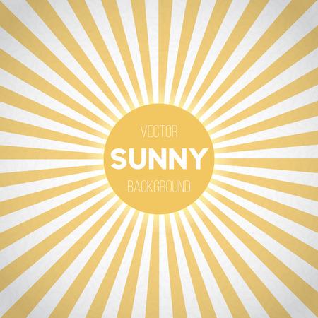 Illustration pour Illustration of Sunburst Background. Sunny Stripes Vector Illustration - image libre de droit