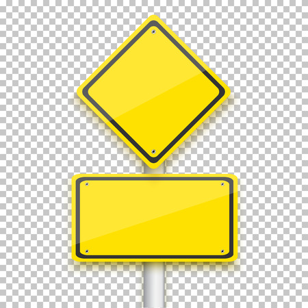 Ilustración de Illustration of Vector Road Yellow Sign - Imagen libre de derechos