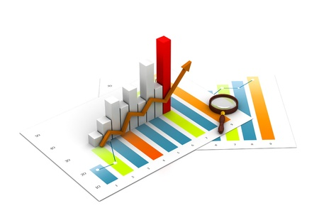 Foto de Business graph analyzing - Imagen libre de derechos