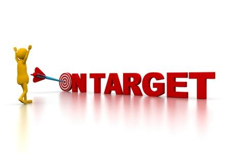 3d man and Target arrow