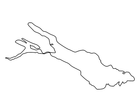 Illustration pour Map of Lake Constance - image libre de droit