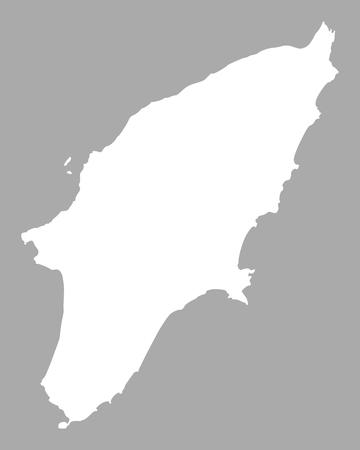 Illustration pour Map of Rhodes - image libre de droit