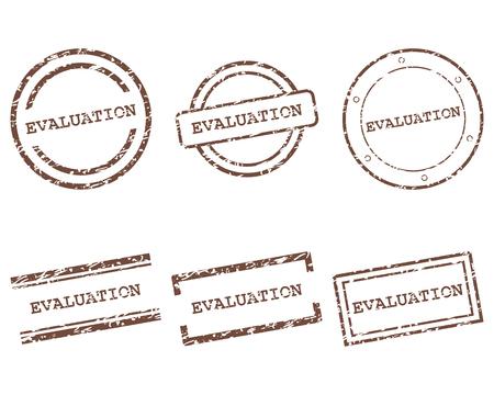 Illustration pour Evaluation stamps - image libre de droit