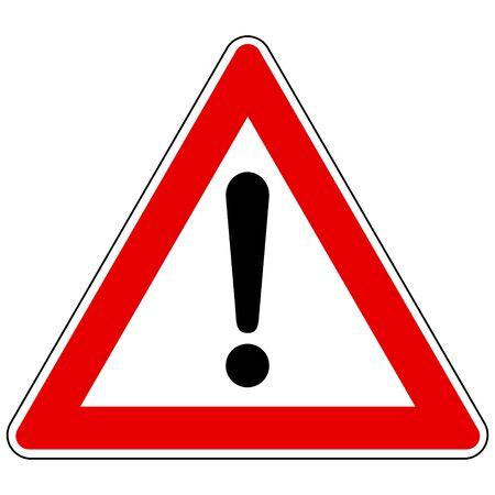 Illustration pour Exclamation mark and attention sign - image libre de droit