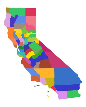 Illustration for Map of California - Royalty Free Image
