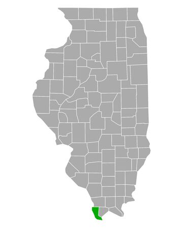 Map of Alexander in Illinois