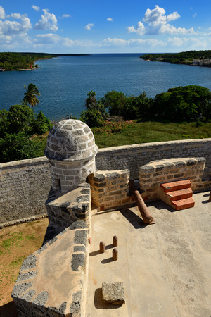 Jagua fort built by Spaniards by the Cienfuegos city on Cuba.In the assumption he was supposed to defend the access to the Cienfuegos bay against assaults with pirates