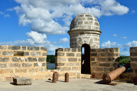 The Jagua fort is built by Spaniards by the Cienfuegos city on Cuba.In the assumption he was supposed to defend the access to the Cienfuegos bay against assaults with pirates