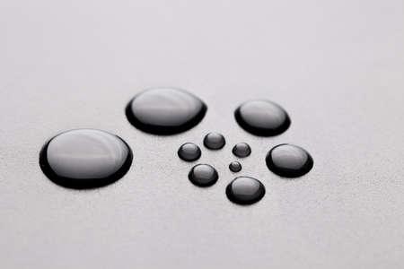 water droplets shape