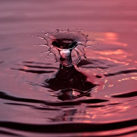 water drop splash double