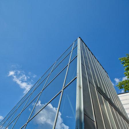 Building facades with windows