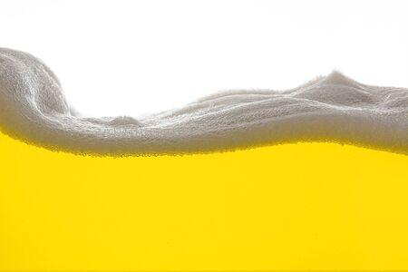 Golden Beer foam wave