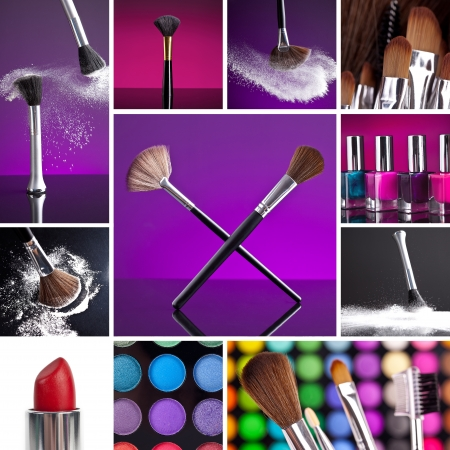 Cosmetics and Make-up Collage