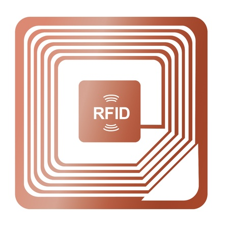 rfid chip radio-label award were stolen identification label copper send vector data