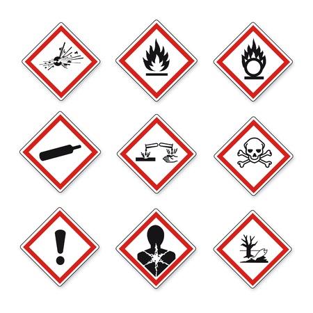 GHS warning danger sign Vektor set