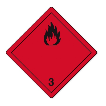 Hazardous substances signs icon flammable skull radioactive fire