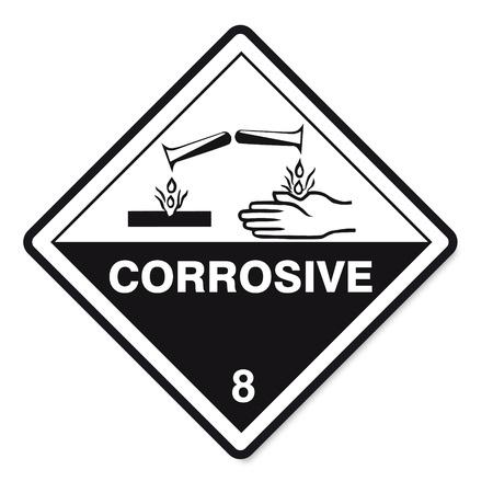 Hazardous substances signs icon flammable skull radioactive hazard corrosive