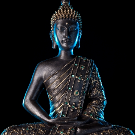Buddha statue with Blue glow
