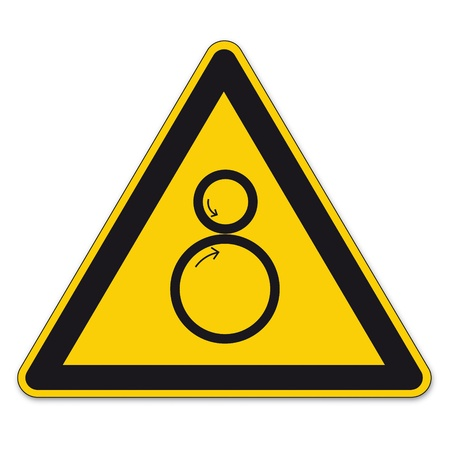 Safety signs warning triangle roll BGV A8 sign vector pictogram icon collection risk