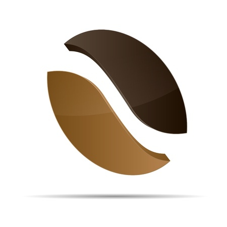3d coffee cafe bean corporate design icon logo trademark