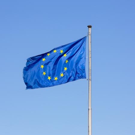 European flag star european parliament Germany globalization policy eu greece sky blue