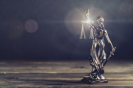 The Statue of Justice - lady justice or Iustitia / Justitia the Roman goddess of Justice - legal law concept image