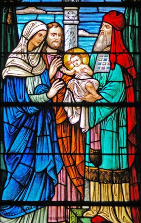 Baby Jesus/ Wise Men window in 19th century (St. Mary's built 1875 - 1899) church